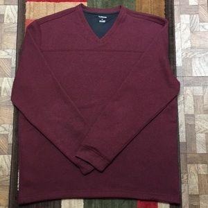 Men's Van Heusen maroon v neck sweater XL